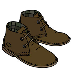 brown suede shoes vector image vector image