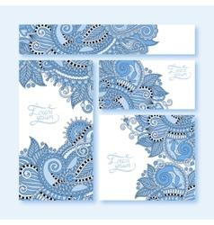 Collection of blue colour decorative floral vector
