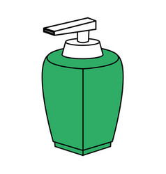 Color silhouette with modern dispenser for cream vector