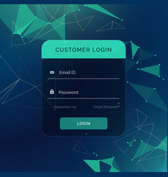 Creative login form ui template for your web or vector