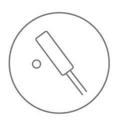 Cricket line icon vector image