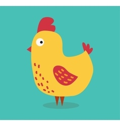 Cute cartoon chicken vector