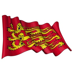 Englands Royal Baner Flag vector image vector image