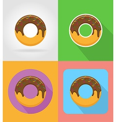 fast food flat icons 15 vector image vector image