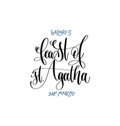 February 5 - feast of st agatha - san marino vector
