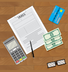 Finance tax and credit card machine vector