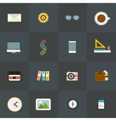 Flat Icons for Web and Mobile Applications vector image vector image