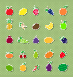fruit silhouettes stickers vector image vector image