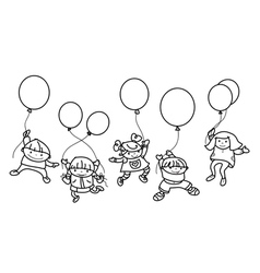 kids balloons vector image vector image
