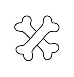 line bones dangerous alert symbol of death vector image