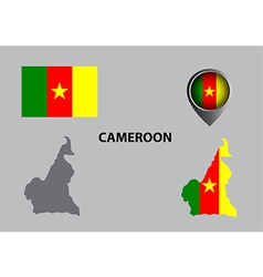 Map of Cameroon and symbol vector image