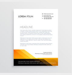 modern orange and black letterhead template design vector image
