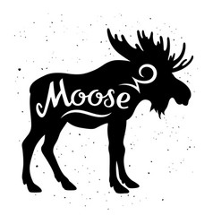 moose silhouette 002 vector image vector image