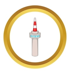 Namsan tower in seoul icon vector