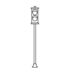 pedestrian traffic light icon vector image