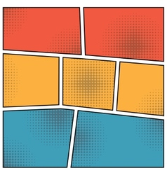 Pop art style blank vector