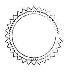 round decoration emblem vector image vector image