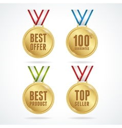 Set of medals Sale concept vector image