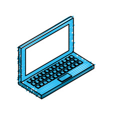 Technology laptop to social information connect vector
