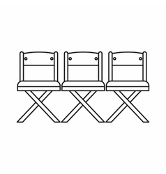 Theater chairs icon outline style vector