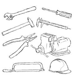 tools set vector image