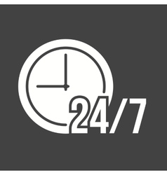 Twent-four seven service vector