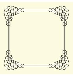 Twirl Vintage Frame vector image