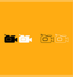 Videocamera it is white icon vector