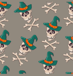 Vintage skulls pattern template for your vector