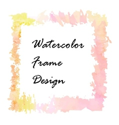 Watercolor frame design vector
