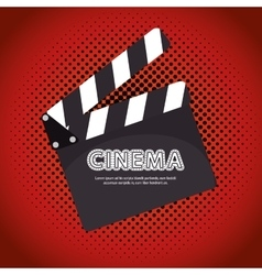 Cartoon clapperboard film festival movie design vector