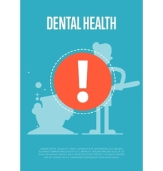 Dental health banner with dentist silhouette vector