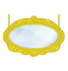 fancy boutique mirror vector image