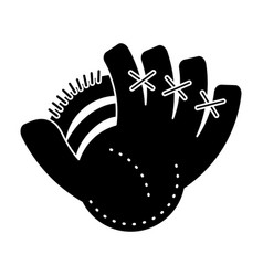 baseball glove sport pictogram vector image