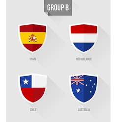 Brazil Soccer Championship 2014 Group B flags vector image