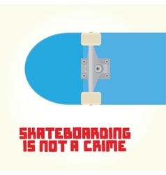 Skateboarding is not a crime vector