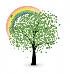 Tree with rainbow vector