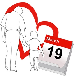 March 19 the fathers day vector