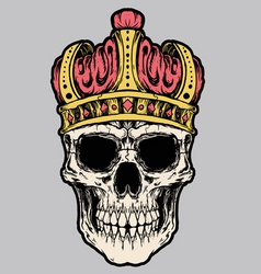 skull king crown vector vector image