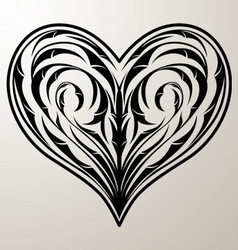 Heart floral ornament vector