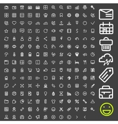 Line icons for applications and websites vector