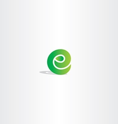 Eco green letter e logo sign element logotype vector