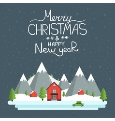 Happy holidays greeting card vector