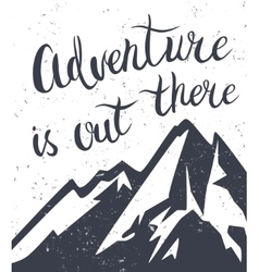 Mountains exploration poster vector