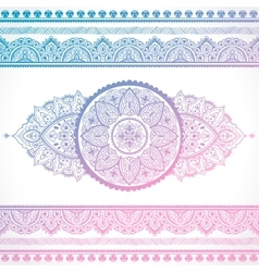 Beautiful filigree Indian floral ornament Ethnic vector image