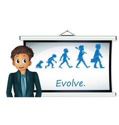 Evolution chart vector