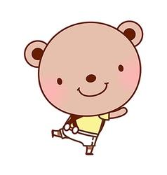 A bear is dancing vector