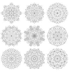 Abstract pattern set vector image vector image