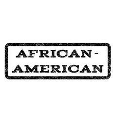 african-american watermark stamp vector image vector image