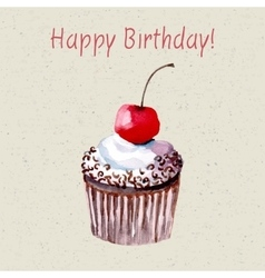Beautiful happy birthday card vector image